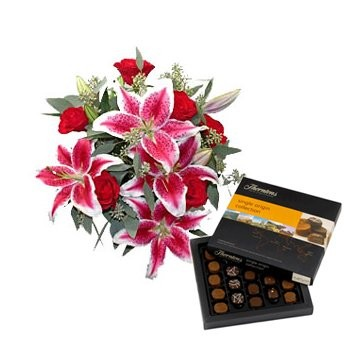 Lovely Lilies and Chocolate Sweetness