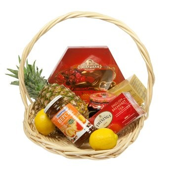 Tea and More Basket - Gourmet-Gift-Baskets on www.flowerstopetersburg.com