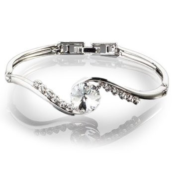 Clear Austrian Crystal Bangle
