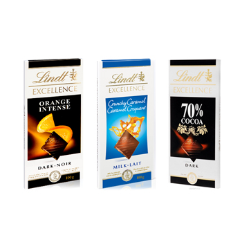 Lindt Chocolate Bar Trio