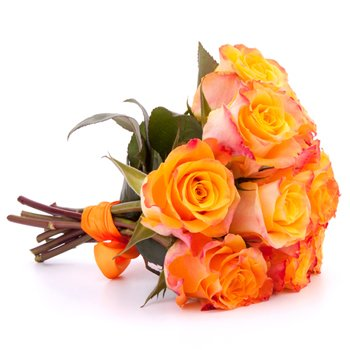 Pretty As A Peach - Bouquets on www.flowerstopetersburg.com